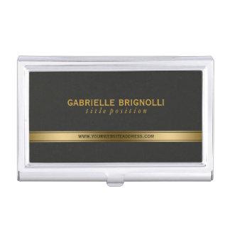 Elegant Gold And Back Texture Background Business Card Holder