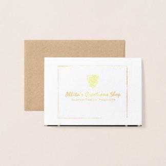 Elegant Gold and Black Foil Card