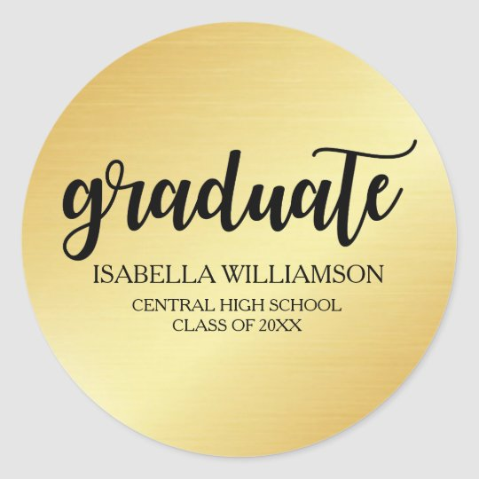 Elegant Gold and Black Graduation Envelope Seals
