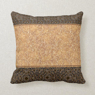 Elegant Gold and Black Trimming Throw Pillow