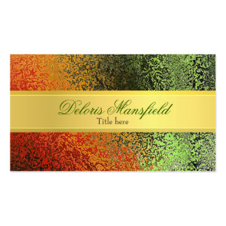Elegant Gold and Green Foil Look Business Card