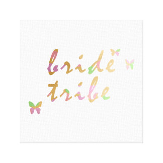 elegant gold and rose gold Bride Tribe Canvas Print