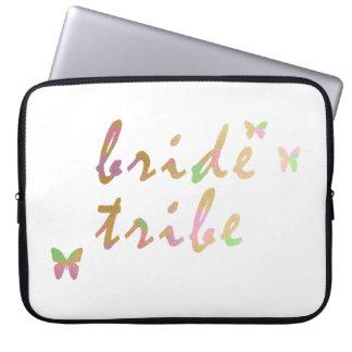 elegant gold and rose gold Bride Tribe Laptop Sleeve
