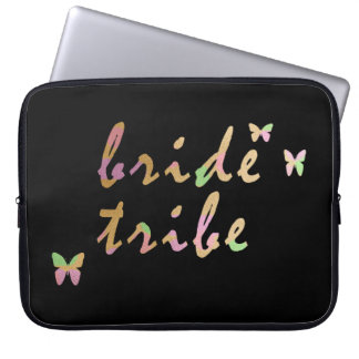 elegant gold and rose gold Bride Tribe Laptop Sleeve