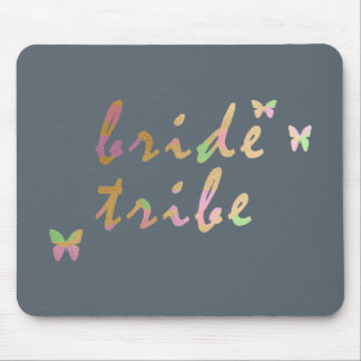 elegant gold and rose gold foil Bride Tribe Mouse Pad