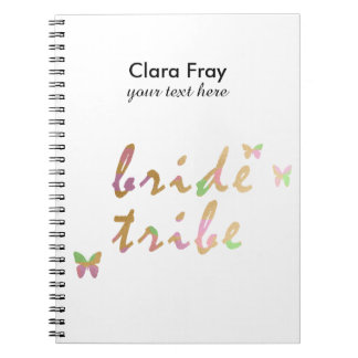 elegant gold and rose gold foil Bride Tribe Notebook