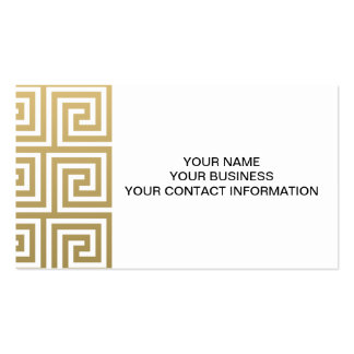 Elegant Gold and White Greek Key Pattern Pack Of Standard Business Cards