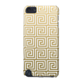 Elegant Gold and White Greek Key Pattern iPod Touch (5th Generation) Case