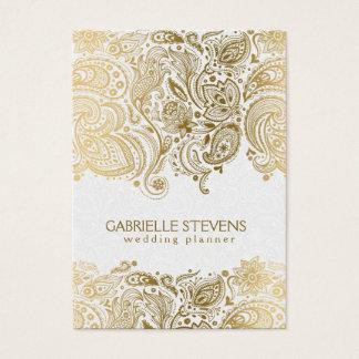 Elegant Gold And White Paisley 3 Wedding Planner
