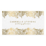 Elegant Gold And White Paisley Wedding Planner Pack Of Standard Business Cards