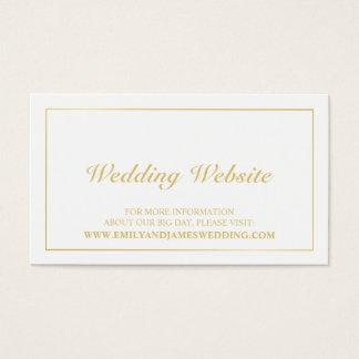 Elegant Gold and White Wedding Website Business Card