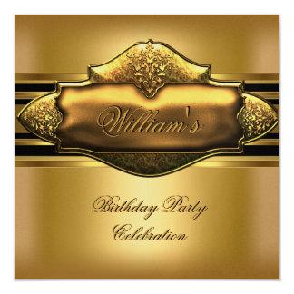 Elegant Gold Birthday Party Mens 60th Card