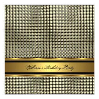 Elegant Gold Birthday Party Mens Man Personalized Invitations