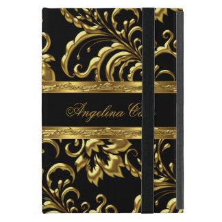 Elegant Gold black Damask Fashionable Cases For iPad Mini