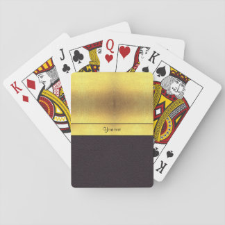 Elegant Gold & Black Playing Cards