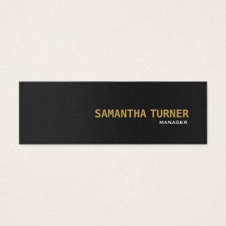 Elegant Gold Black Textured Professional Custom Mini Business Card