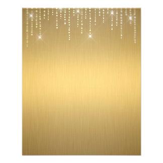 Elegant gold blank flyer
