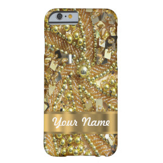 Elegant gold bling barely there iPhone 6 case