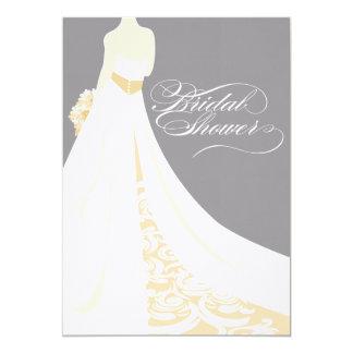 Elegant Gold Bridal Shower Invitation
