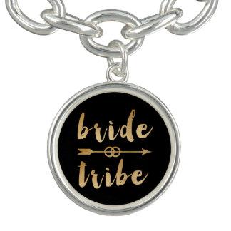 elegant gold bride tribe arrow wedding rings