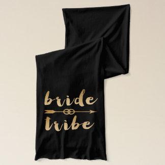elegant gold bride tribe arrow wedding rings scarf