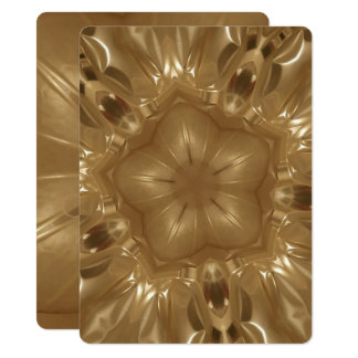 Elegant Gold Brown Christmas Kaleidoscope Star Card