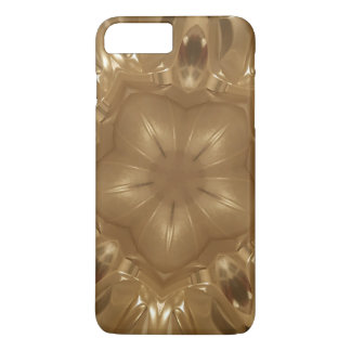Elegant Gold Brown Kaleidoscope Star Design iPhone 8 Plus/7 Plus Case