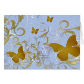 Elegant Gold Butterflies Card
