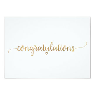 Elegant Gold Calligraphy Congratulations Card