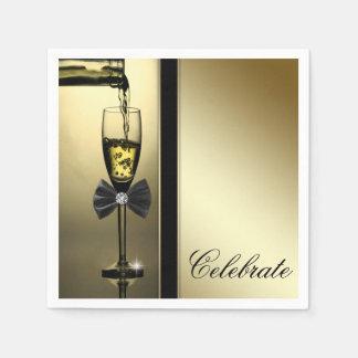 Elegant Gold Champagne Disposable Serviette