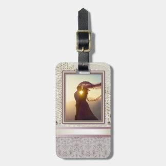 Elegant Gold & Champagne Luggage Tag
