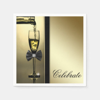 Elegant Gold Champagne Paper Serviettes