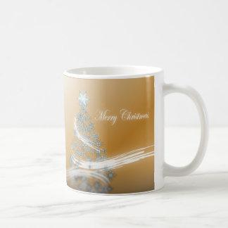 Elegant Gold  Christmas  Tree and Star Coffee Mugs