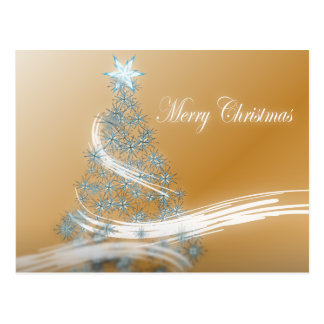 Elegant Gold  Christmas  Tree and Star Post Cards