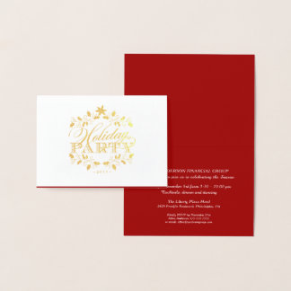 Elegant Gold Corporate Holiday Party Invitation