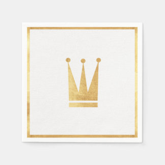 Elegant Gold Crown Napkins Disposable Serviette