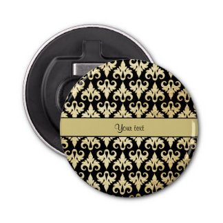 Elegant Gold Damask Bottle Opener