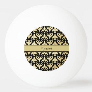 Elegant Gold Damask Ping Pong Ball