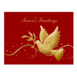 Elegant gold dove peace holiday