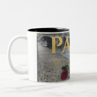 elegant gold embossed paris mug