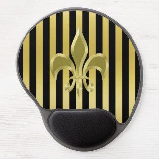 Elegant Gold Fleur-de-Lis Gel Mousepad