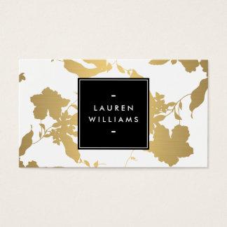 Elegant Gold Floral Pattern on White II