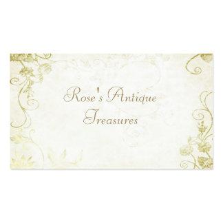Elegant Gold Flower Shop Business Cards