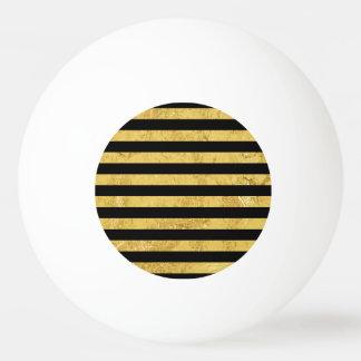 Elegant Gold Foil and Black Stripe Pattern