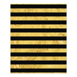 Elegant Gold Foil and Black Stripe Pattern Flyer