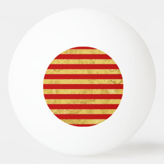 Elegant Gold Foil and Red Stripe Pattern Ping Pong Ball