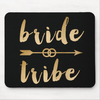 elegant gold foil bride tribe arrow wedding rings mouse pad