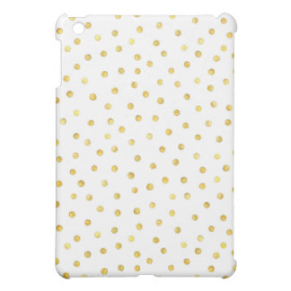Elegant Gold Foil Confetti Dots Case For The iPad Mini