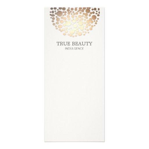 Elegant Gold Foil Look Circles Off White Rack Cards