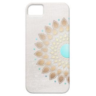 Elegant Gold Foil Look Lotus Flower iPhone 5 Covers